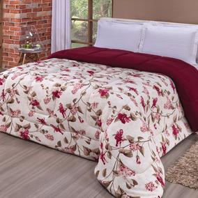 d8813b31ef Kit Edredom Casal Floral Cobertor - Roupa de Cama no Mercado Livre ...