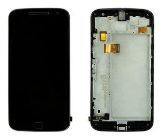 Display Frontal Tela Touch Lcd Moto G4 Plus Xt1640 C/ Aro