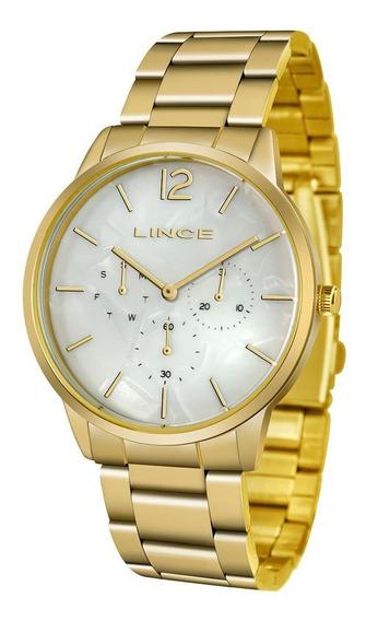 Relógio Lince Dourado Feminino