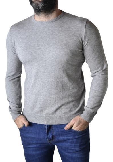 Sweater Elastizado Hombre Rosa Marron Negro Gri The Big Shop