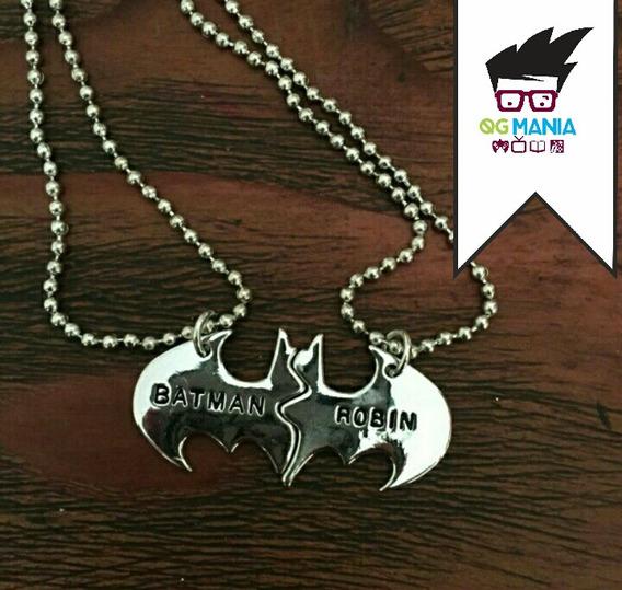 Colar Batman E Robin Casal Melhores Amigos Best Friends