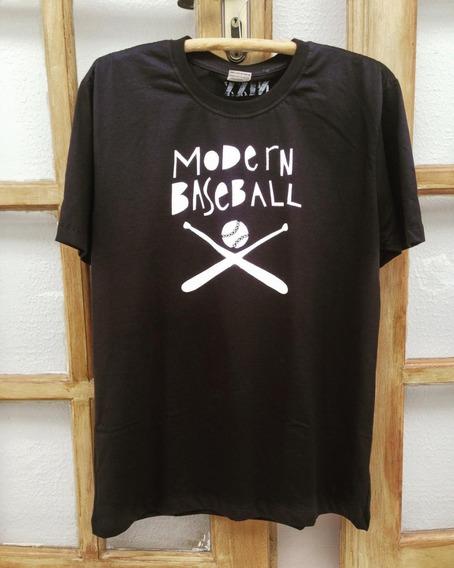 Camiseta/ Baby Look Estampada Banda- Modern Baseball