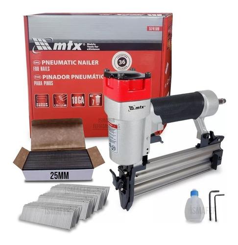 Pinador Pneumatico Para Pinos Mtx Profiss. + 5000 Pinos 25mm