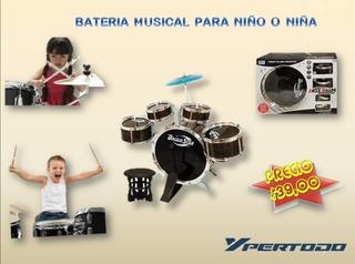 Batería Musical Para Niños De 3 Años En Adelante