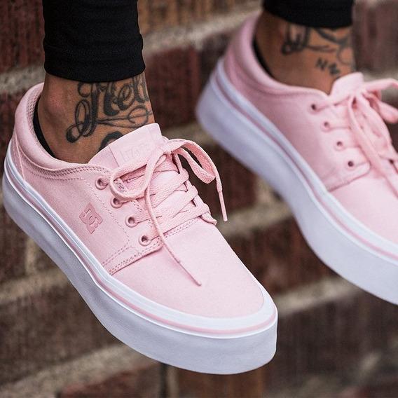 Zapatillas De Mujer Dc Trase Plattform Pink (nuevas!)