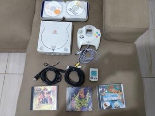 Sega Dreamcast, 1 Console, 1 Controle, Bastante Jogos