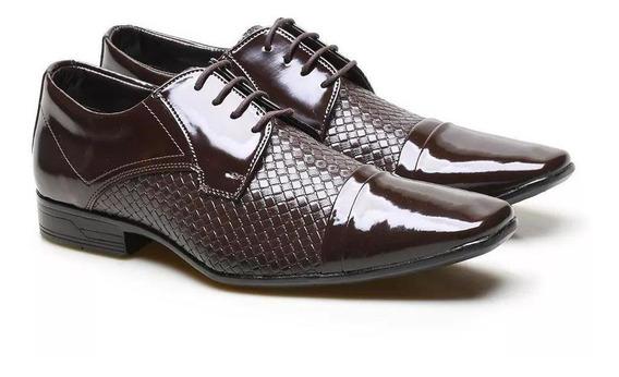 Sapato Social Versales Masculino Tressê Com Cadarço Conforto