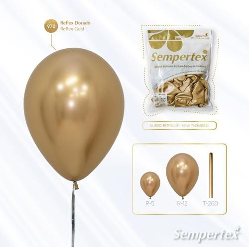 Globo Sempertex R-12 Reflex Dorado X 50