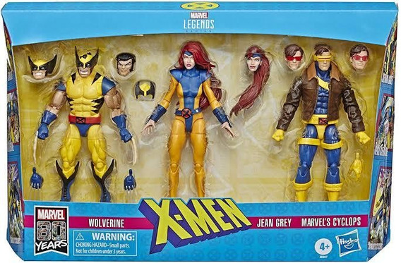 3 Pack Jean Gray Ciclops Wolverine Marvel Legends
