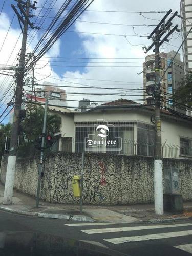 Terreno À Venda, 440 M² Por R$ 3.800.000,00 - Jardim - Santo André/sp - Te1088