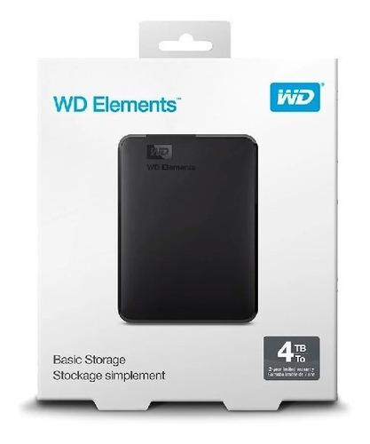 Imagen 1 de 3 de Wd Disco Duro Externo Elements 4tb