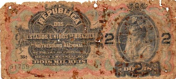Cédula 2 Mil Réis R 084 Série 36