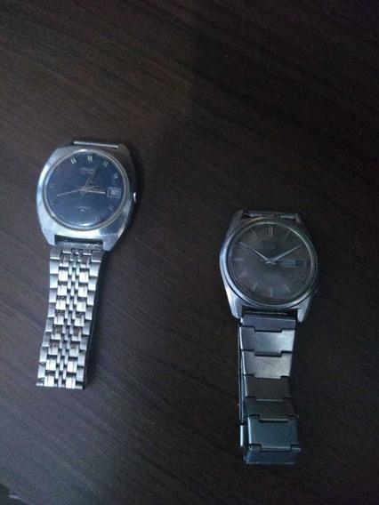 2 Relógios Relíquia Seiko 600 Reais