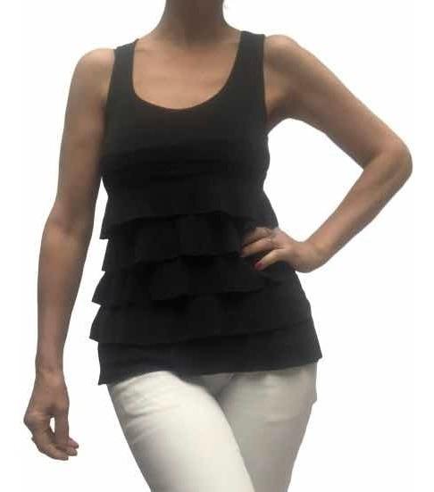 Remera Mujer Talle S Totalmente Perfecta Seda Fría Negra