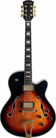 Stagg A300 Jazz Semi-electroacúsitca Guitarra Violinburst