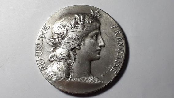 Medalla República Francesa Plata Por Daniel Dupuis L 1015