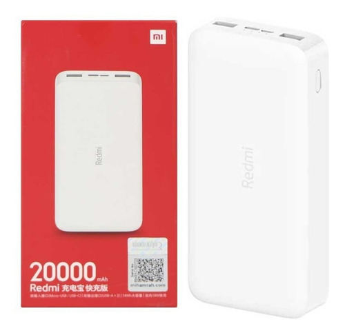 Cargador Portátil Power Bank Xiaomi Redmi 20000 Mah / Tienda