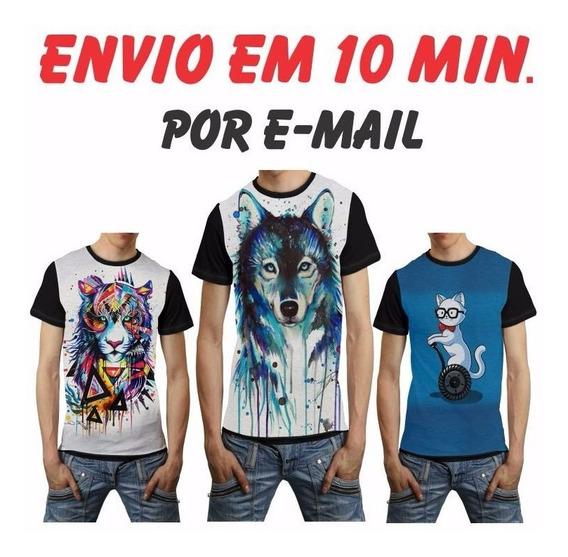 +70 Estampas Camisas Iradas 3d Sublimação T-shirt + Brinde