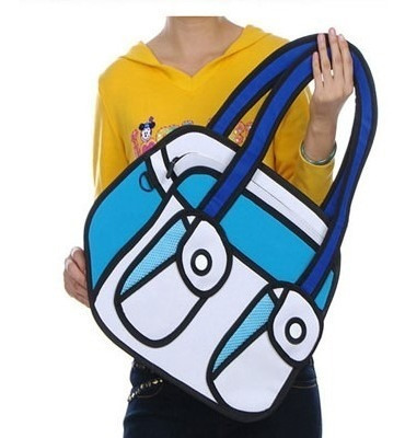 Bolso Cartera Diseño 2d 3d Cartoon Bag Handbag Importada 9