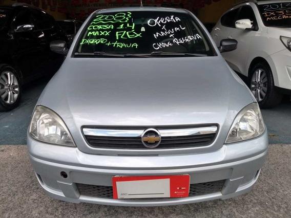 Gm Chevrolet Corsa Sedan 1.4 Maxx Direção Flex Lindo 2008