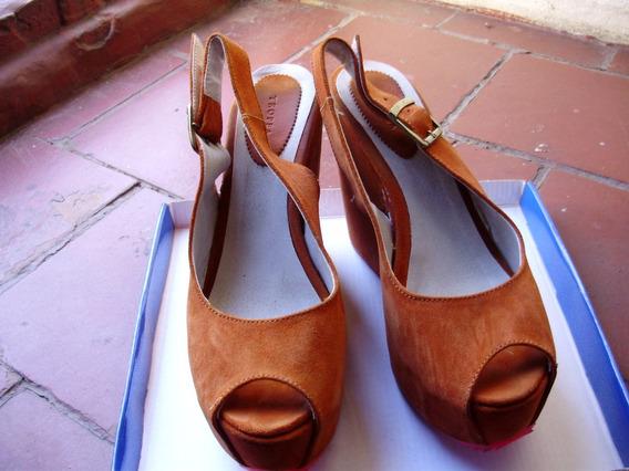Sandalias Mujer Tropea Con Plataforma Color Naranja Talle 38