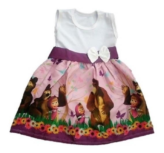 Vestido Infantil Festa Masha E O Urso Roupa/fantasia
