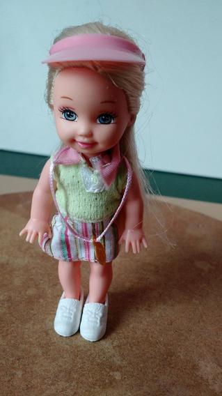 Mini Boneca Kelly Tenista Mattel Irmã Barbie Taffy