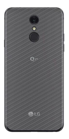 Película Traseira Fibra Carbono Transparente LG Q7 Plus