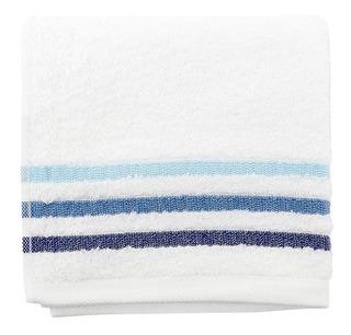 Toalla Manos Francis Cannon 380gr - Blanco Y Azul