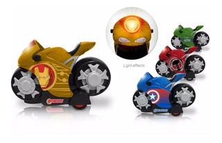Moto A Fricción Con Luces Avengers Smart Motorcycle Original