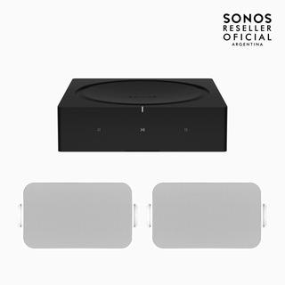 Sonos Amp + 2 Parlantes Para Exterior Sonos By Sonance.