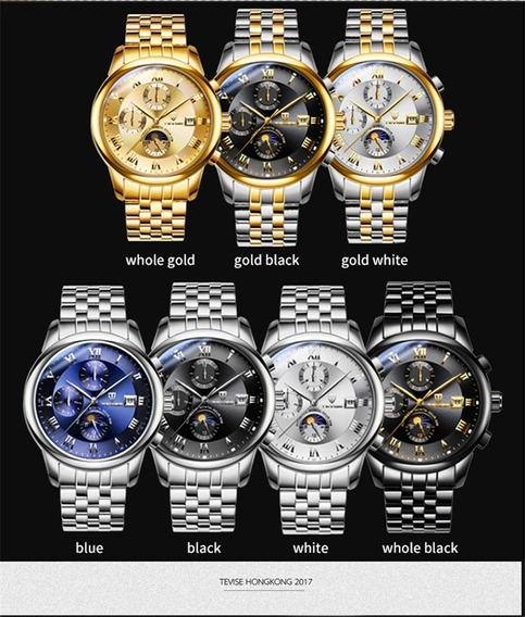Tevise 9008 Reloj De Pulsera De Acero Inoxidable Para Hombre
