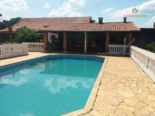 Chácara Com 3 Dormitórios À Venda, 1200 M² Por R$ 550.000,00 - Residencial Alvorada - Araçoiaba Da Serra/sp - Ch0102
