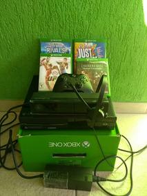 Console Xbox One + Kinect + 4 Jogos + Headset + Joystick