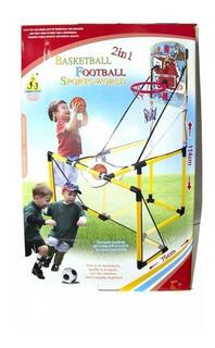 Kit Basquete E Futebol Infantil Cesta Tabela Gol Trave 2em1