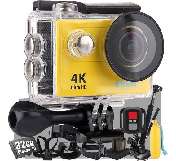 Kit Câmera Eken H9r Carregador + Ventosa + Bastão + Brindes