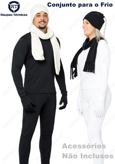 Conjunto Segunda Pele Camisa Manga Longa E Calça Para Frio