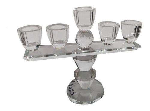 Candelabro Cristal Centro De Mesa Decoración Vela Veladora