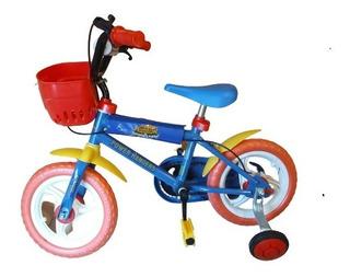 Bicicleta Con Rueditas Rodado 12 Para Niño Unibike 3041