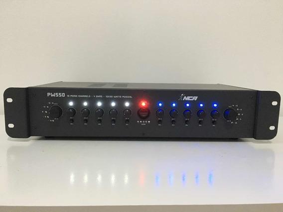 Amplificador De Potência Nca Pw550 10 Canais