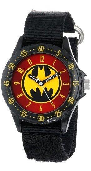 Batman Kids Bat5036 Reloj De Batman Con Correa De Lona Negra