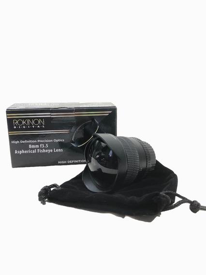 Lente Rokinon 8mm F.3.5 Fisheye Para Nikon Usada