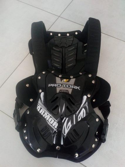 Pechera Pro Tork Motocross Atv 788 Armor Negra