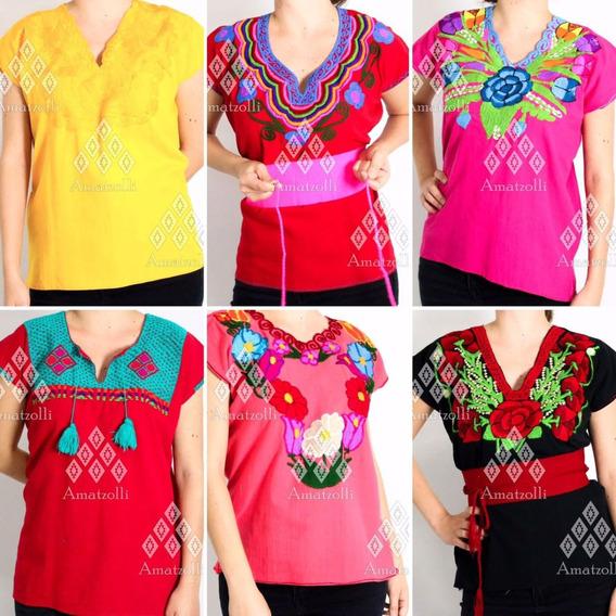 Paca 12 Blusas Surtidas Artesanales Con Varios Modelos
