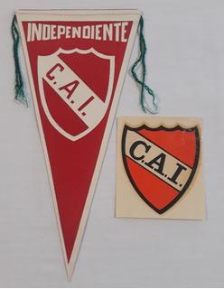 Independiente - Antiguos Banderin Y Calco - Futbol Retro Fs