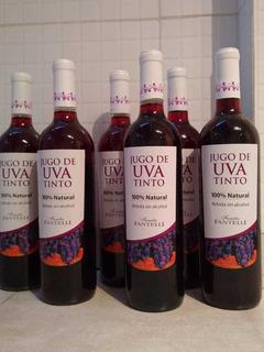 Jugo De Uva Tinto, 100% Natural. Bebida Sin Alcohol