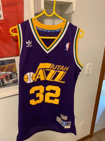 Camiseta Uniforme Nba adidas Hwc Utah Jazz Karl Malone Top!