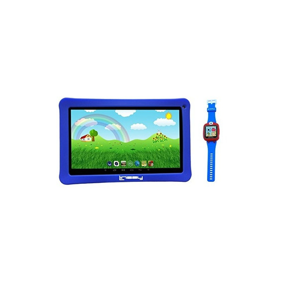 Linsay Nuevo F10kbwb 10.1 Niños Tablet Blue Bundle Con 1.5 R