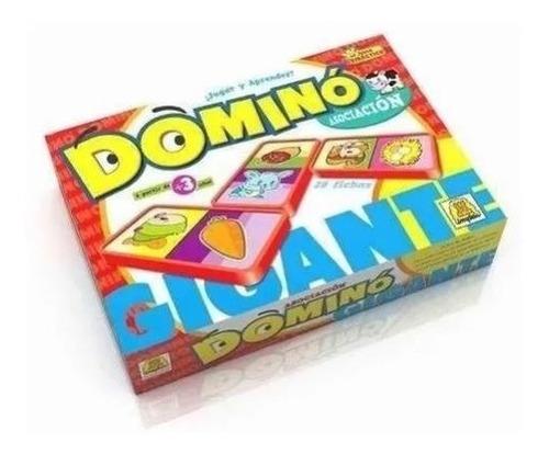 Juego De Mesa Domino Gigante De Asociación Implas E.full