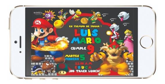 Invitacion Digital Mario Bros 02d